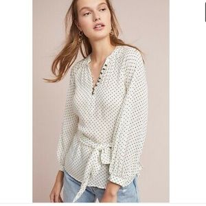 Maeve Anthropologie Lucy Tie Waist Blouse size 4